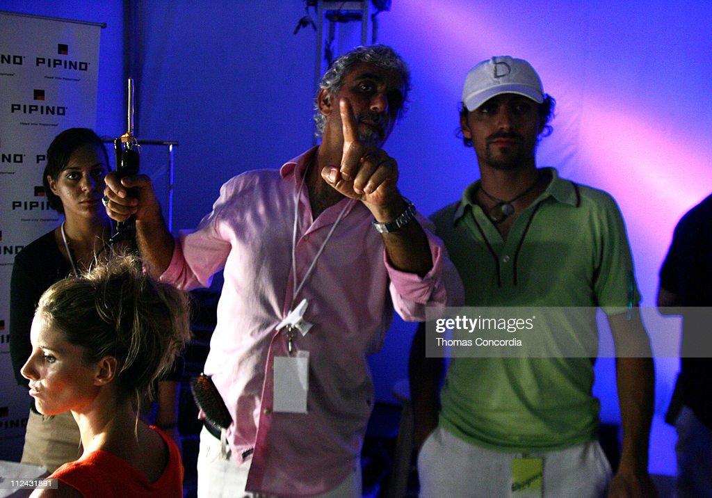 Marisa Miller and Ric Pipino backstage at Sais by Rosa Cha