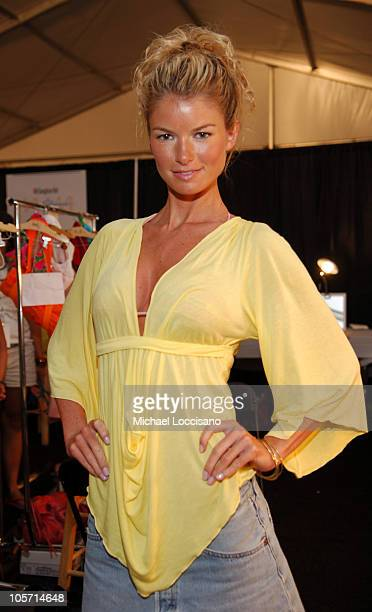 Marisa Miller backstage at Sais by Rosa Cha during Sunglass Hut Swim Shows Miami Presented by LYCRA Sais by Rosa Cha Backstage at The Raleigh Hotel...