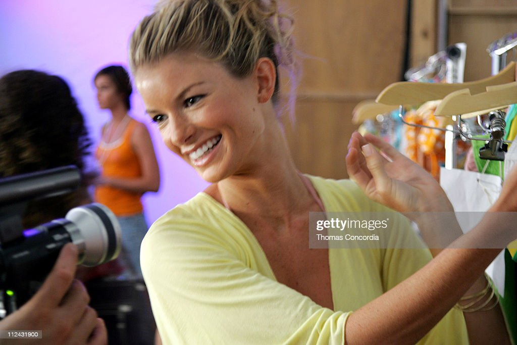 Marisa Miller backstage at Sais by Rosa Cha during Sunglass Hut Swim Shows Miami Presented by LYCRA - Sais by Rosa Cha - Backstage and Front Row at Raleigh Hotel in Miami Beach, Flordia, United States.
