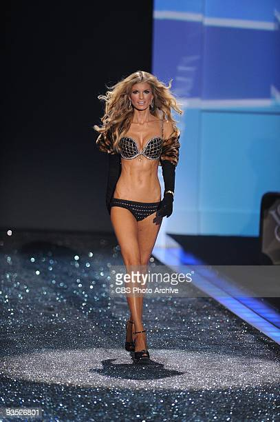 Marisa Miller during the 2009 VICTORIA'S SECRET FASHION SHOW Victoria's Secret Supermodels return this year in a holidayinfused lingerie runway show...
