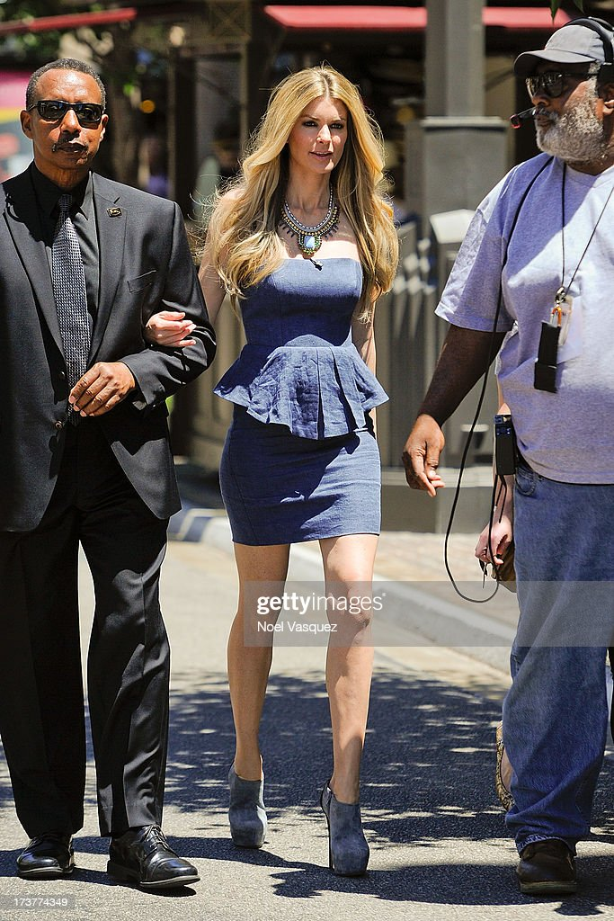 Marisa Miller is sighted at The Grove on July 17, 2013 in Los Angeles, California.