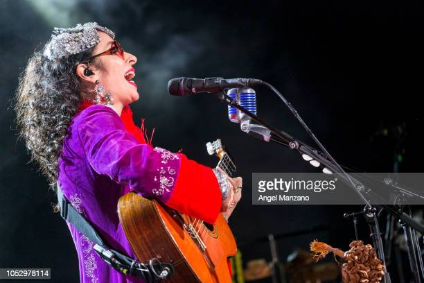 Marisa Montes from Tribalistas performs in concert at La Riviera on October 24 2018 in Madrid Spain
