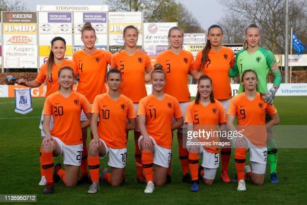 Marisa Olislagers of Holland Women U19, Jonna van de Velde of Holland Women U19., Lisa Doorn of Holland Women U19, Kerstin Casparij of Holland Women...