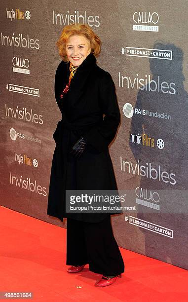 Marisa Paredes attends 'Invisibles ' charity premiere at Callao cinema on November 23 2015 in Madrid Spain