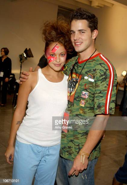 Marisa Ramirez and husband during 2003 Smashbox Fashion Week Los Angeles H Starlet Spring Collection 2004 Backstage at Smashbox in Culver City...