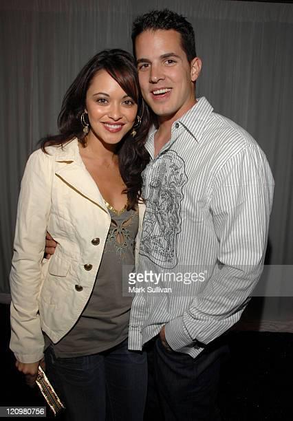 Marisa Ramirez and husband Nathan Lavezoli during LA Lakers 3rd Annual Casino Night and Poker Invitational Arrivals at Barker Hanger in Santa Monica...