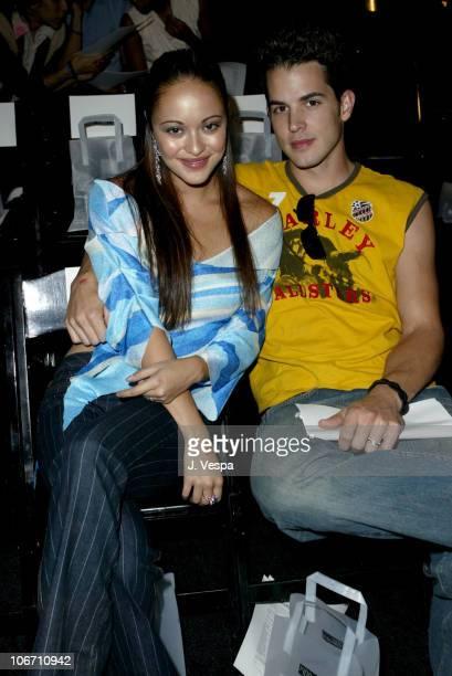 Marisa Ramirez and Nathan Lavezoli during 2003 Smashbox Fashion Week Los Angeles John Sakalis Spring Collection 2004 Front Row and Audience at...