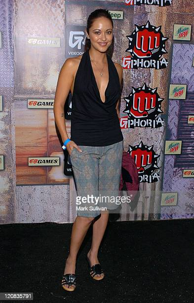 Marisa Ramirez during 2005 G-Phoria Videogame Awards - Arrivals at Los Angeles Center Studios in Los Angeles, California, United States.