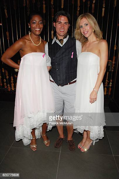 Marisa Renee Lee Keith Lissner and Emily Griffin attend KEITH LISSNER GUESTOFAGUESTCOM host The Pink Agenda cocktail at Royalton NYC on July 16 2008