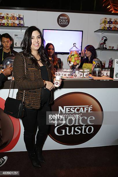 Marisa Runyon attends the Nescafe Dolce Gusto Lounge at Divine Design on December 5 2013 in Beverly Hills California