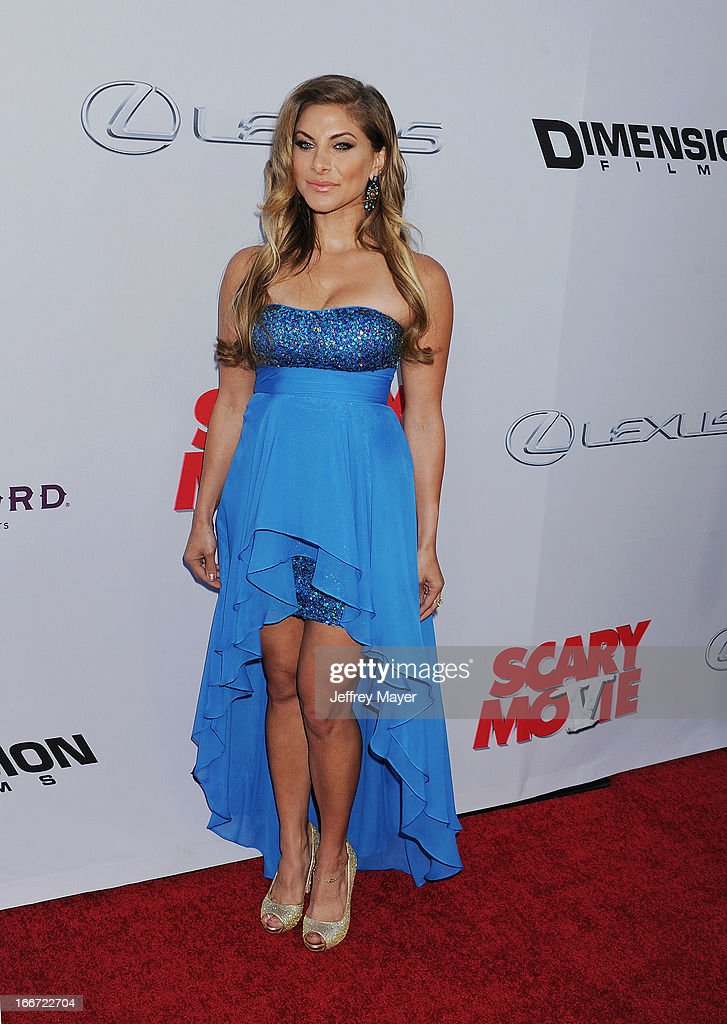 Marisa Saks arrives at the 'Scary Movie V' - Los Angeles Premiere at ArcLight Cinemas Cinerama Dome on April 11, 2013 in Hollywood, California.