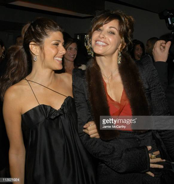Marisa Tomei and Gina Gershon during YSL and Jude Law Host a Grand Classics Evening in Honor of Cinema and Alfie at Soho House in New York City New...