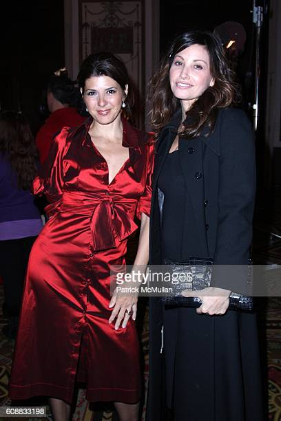Marisa Tomei and Gina Gerson attend Project ALS TOMORROW IS TONIGHT Tenth Anniversary Celebration at The Waldorf Astoria on October 16 2007 in New...