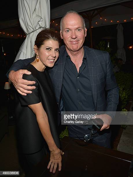 Marisa Tomei and Michael Keaton attend a dinner celebrating Co Denim Avec Francois Girbaud hosted by Marisa Tomei and Kelly Connor at Chateau Marmont...