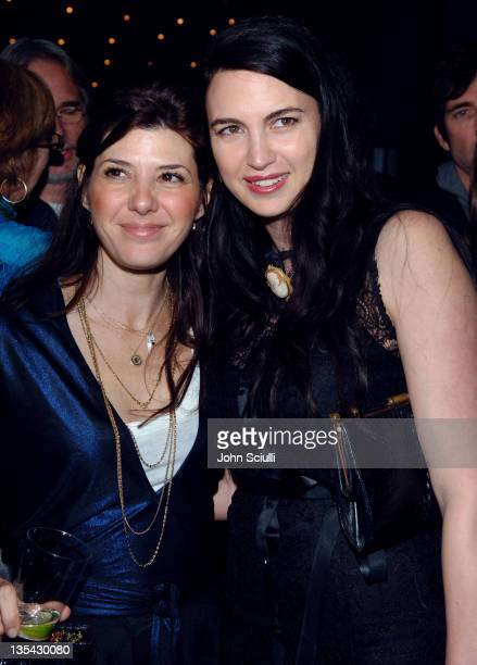 Marisa Tomei and Shiva Rose McDermott during Eve Ensler's The Good Body Opening Night Benefit for VDay LA 2006 After Party at Napa Valley Grille in...