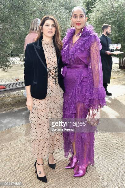 Marisa Tomei and Tracee Ellis Ross attend JNSQ Rose Cru debuts alongside Rodarte FW/19 Runway Show at Huntington Library on February 5 2019 in...