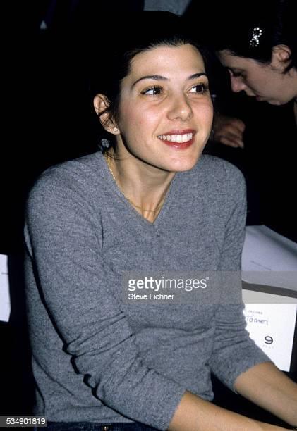 Marisa Tomei at Marc Jacobs Fashion Show New York November 3 1997