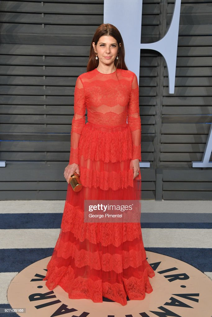 Marisa Tomei attend the 2018 Vanity Fair Oscar Party hosted by Radhika Jones at Wallis Annenberg Center for the Performing Arts on March 4, 2018 in Beverly Hills, California.