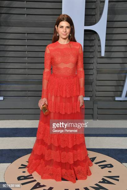 Marisa Tomei attend the 2018 Vanity Fair Oscar Party hosted by Radhika Jones at Wallis Annenberg Center for the Performing Arts on March 4 2018 in...