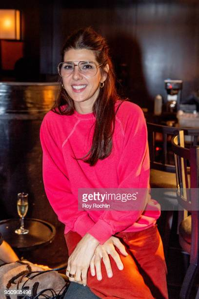 Marisa Tomei attends the 2018 Tribeca Film Festival AfterParty for Disobedience at Distilled NY on April 24 2018 in New York City