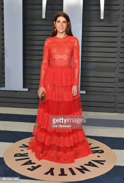 Marisa Tomei attends the 2018 Vanity Fair Oscar Party hosted by Radhika Jones at Wallis Annenberg Center for the Performing Arts on March 4 2018 in...