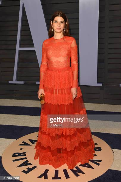 Marisa Tomei attends the 2018 Vanity Fair Oscar Party hosted by Radhika Jones at the Wallis Annenberg Center for the Performing Arts on March 4 2018...