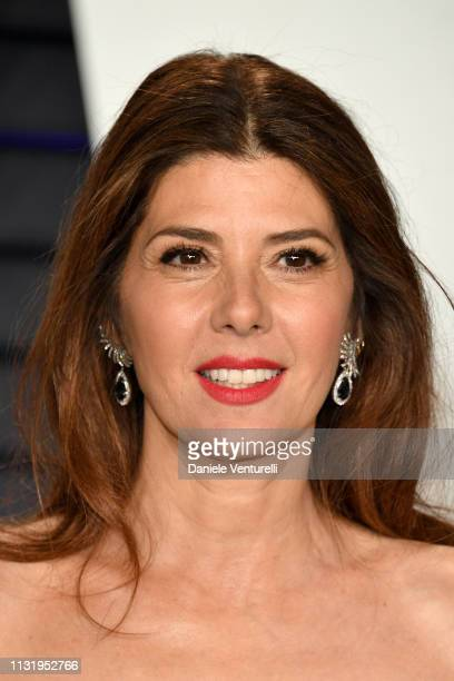 Marisa Tomei attends the 2019 Vanity Fair Oscar Party Hosted By Radhika Jones Arrivals at Wallis Annenberg Center for the Performing Arts on February...