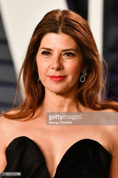 Marisa Tomei attends the 2019 Vanity Fair Oscar Party hosted by Radhika Jones at Wallis Annenberg Center for the Performing Arts on February 24 2019...