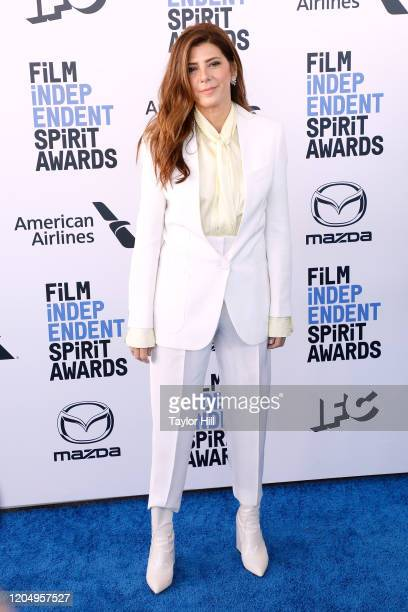 Marisa Tomei attends the 2020 Film Independent Spirit Awards at Santa Monica Pier on February 08 2020 in Santa Monica California