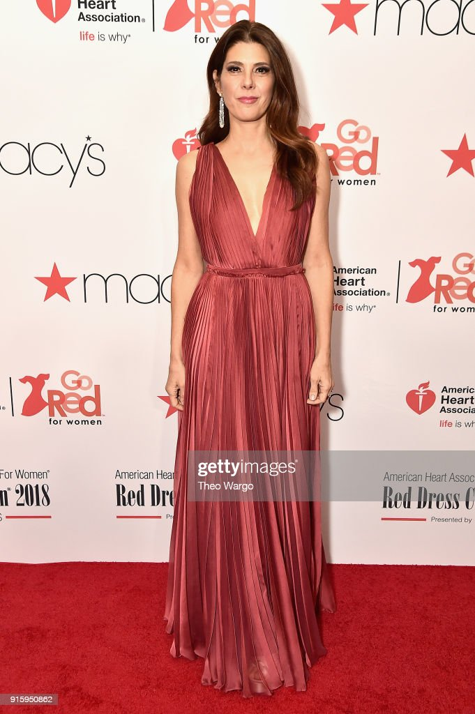 Marisa Tomei attends the American Heart Association's Go Red For Women Red Dress Collection 2018 presented by Macy's at Hammerstein Ballroom on February 8, 2018 in New York City.