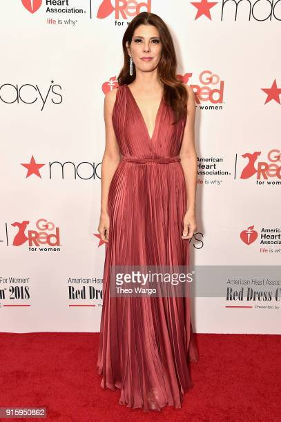 Marisa Tomei attends the American Heart Association's Go Red For Women Red Dress Collection 2018 presented by Macy's at Hammerstein Ballroom on...