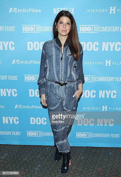 Marisa Tomei attends the DOC NYC Opening Night Gala US premiere of 'Citizen Jane Battle for the City' at SVA Theater on November 10 2016 in New York...