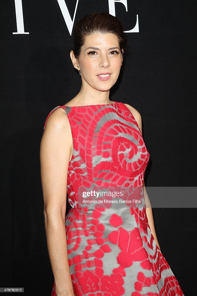 Marisa Tomei attends the Giorgio Armani Prive show as part of Paris Fashion Week Haute Couture Fall/Winter 2015/2016 on July 7, 2015 in Paris, France.