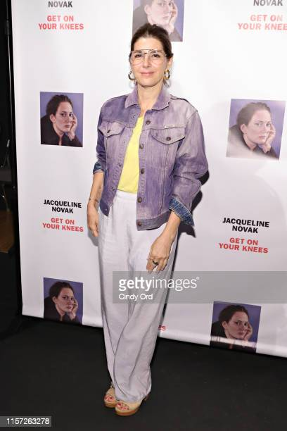 Marisa Tomei attends the opening night of Jacqueline Novak Get on Your Knees at Cherry Lane Theatre on July 22 2019 in New York City