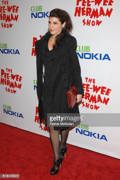 Marisa Tomei attends The Pee Wee Herman Show Opening Night at Club Nokia on January 20 2010 in Los Angeles California
