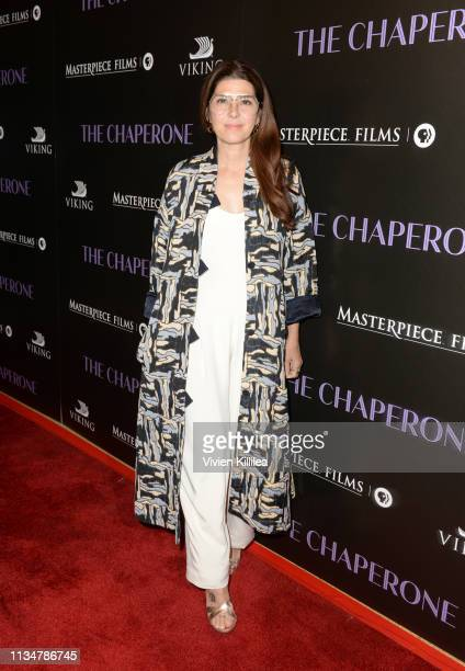 Marisa Tomei attends the Premiere Of PBS' The Chaperone at Linwood Dunn Theater on April 3 2019 in Los Angeles California