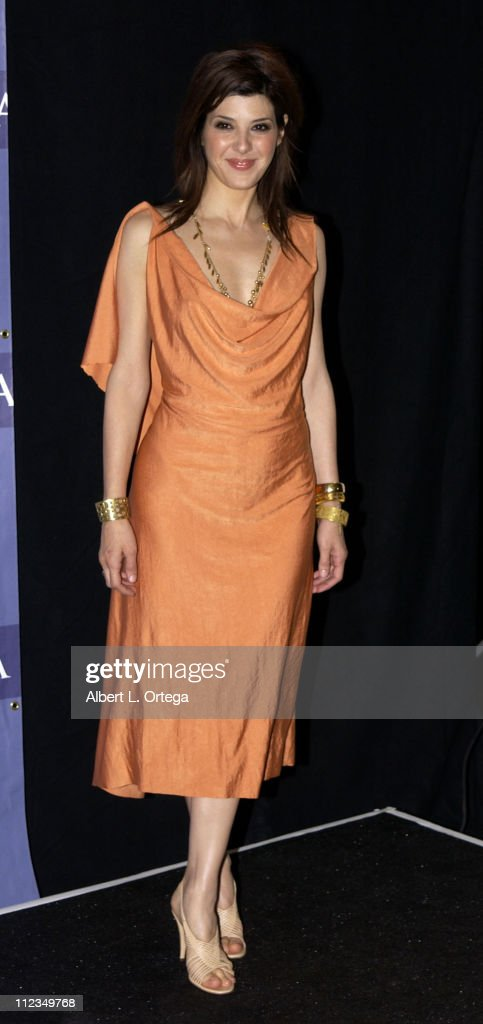 Marisa Tomei during 2002 ALMA Awards Gala - Press Room at The Shrine Auditorium in Los Angeles, California, United States.
