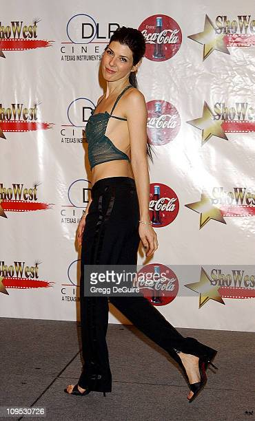 Marisa Tomei during 2002 ShoWest Gala Awards Press Room at Paris Hotel in Las Vegas Nevada United States