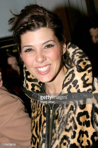 Marisa Tomei during Eve Ensler's 'The Good Body' Opening Night After Party at Gustavinos in New York City New York United States