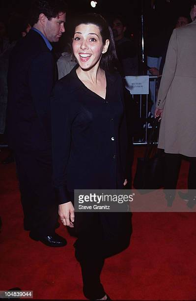 Marisa Tomei during Jerry Maguire Los Angeles Premiere at Mann Village Theatre in Los Angeles California United States