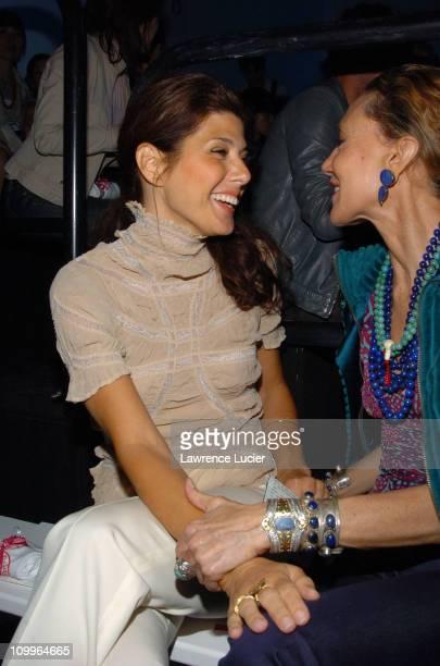 Marisa Tomei during Olympus Fashion Week Spring 2005 Diane von Furstenberg Front Row at Diane von Furstenberg Studio in New York City New York United...