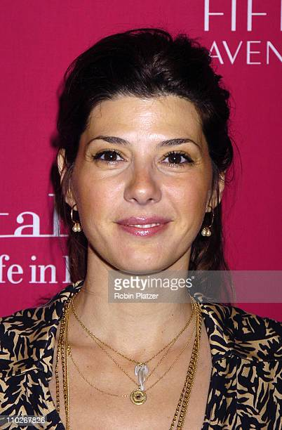 """Marisa Tomei during SAKS Fifth Avenue """"Wild about Cashmere"""" Launch Party - Arrivals at Saks Fifth Avenue in New York City, New York, United States."""