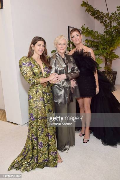 Marisa Tomei Glenn Close and Kate Walsh attend The 21st CDGA at The Beverly Hilton Hotel on February 19 2019 in Beverly Hills California