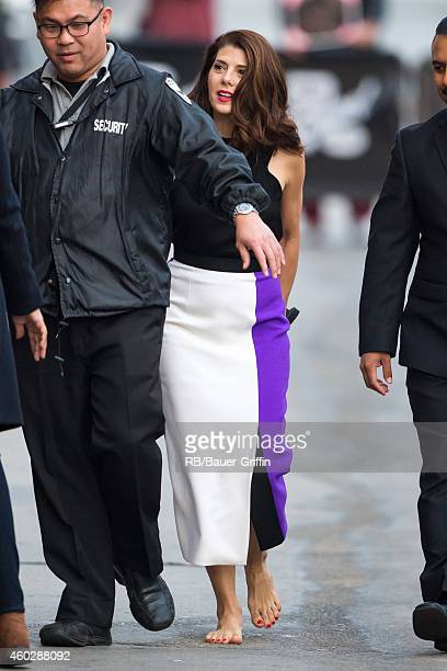 Marisa Tomei is seen at 'Jimmy Kimmel Live' on December 10 2014 in Los Angeles California