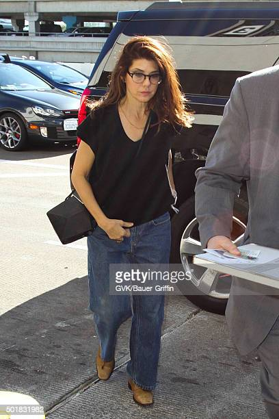Marisa Tomei is seen at LAX on December 17 2015 in Los Angeles California