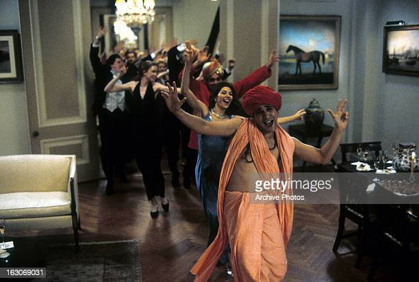 Marisa Tomei Jimi Mistry and others dance in a scene from the film 'The Guru' 2002