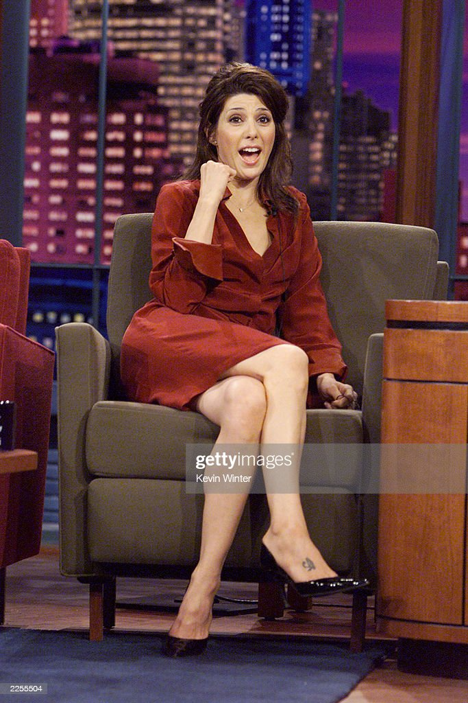 """Marisa Tomei on """"The Tonight Show with Jay Leno"""" at the ..."""