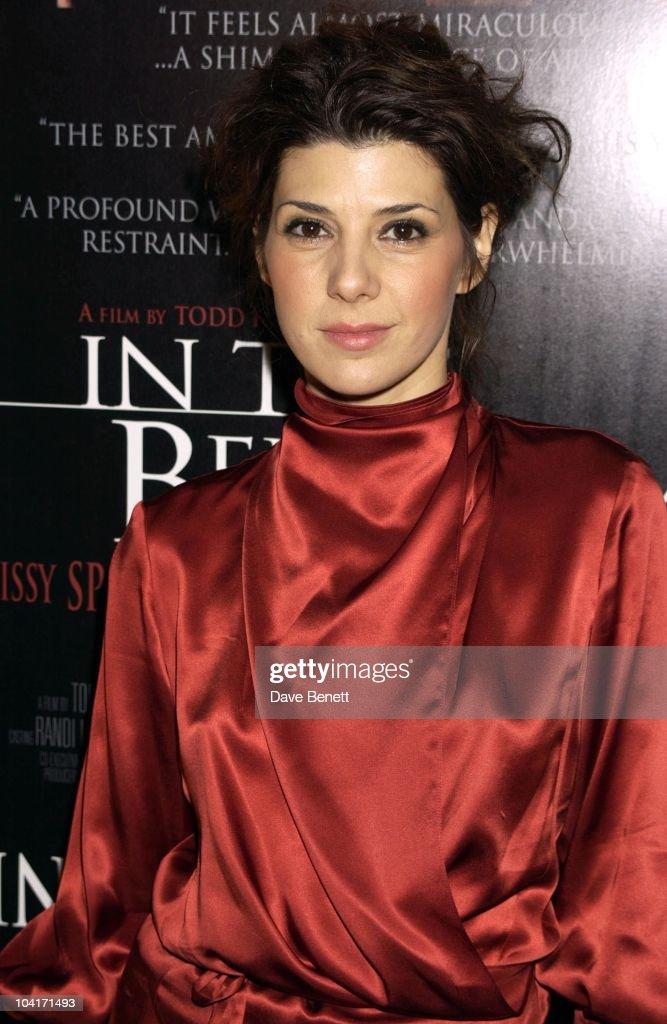 Marisa Tomei, The National Film Theatre Screening Of 'In The Bedroom' A New Movie Starring Golden Globe Best Actress Award Winner Sissy Spacek.