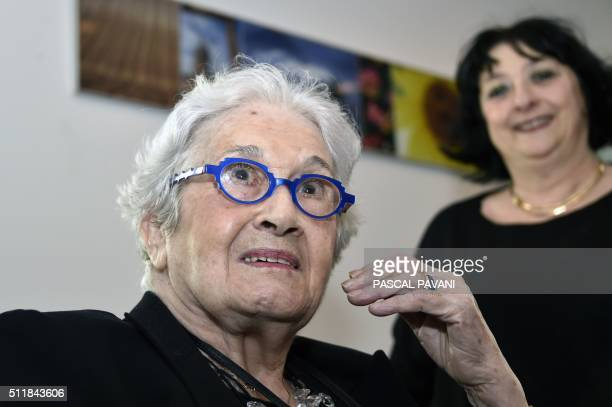 Marise CremieuxHurstel poses in Toulouse on February 23 2016 Marise CremieuxHurstel's journal which she began writing in 1943 at the age of 15 while...