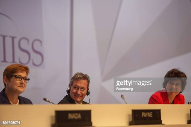 Marise Payne Australia's defense minister John Chipman chief executive and director general of International Institute for Strategic Studies and...